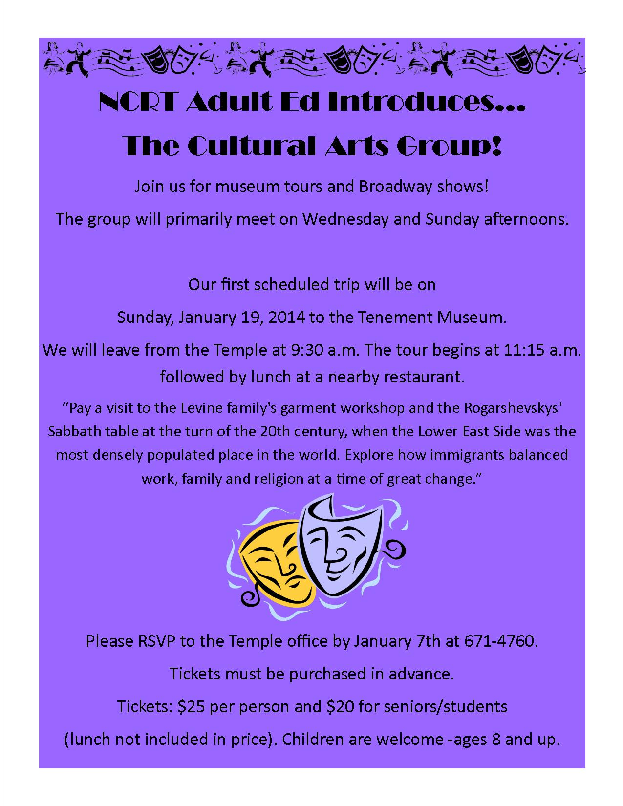 Cultural Arts Group Flyer