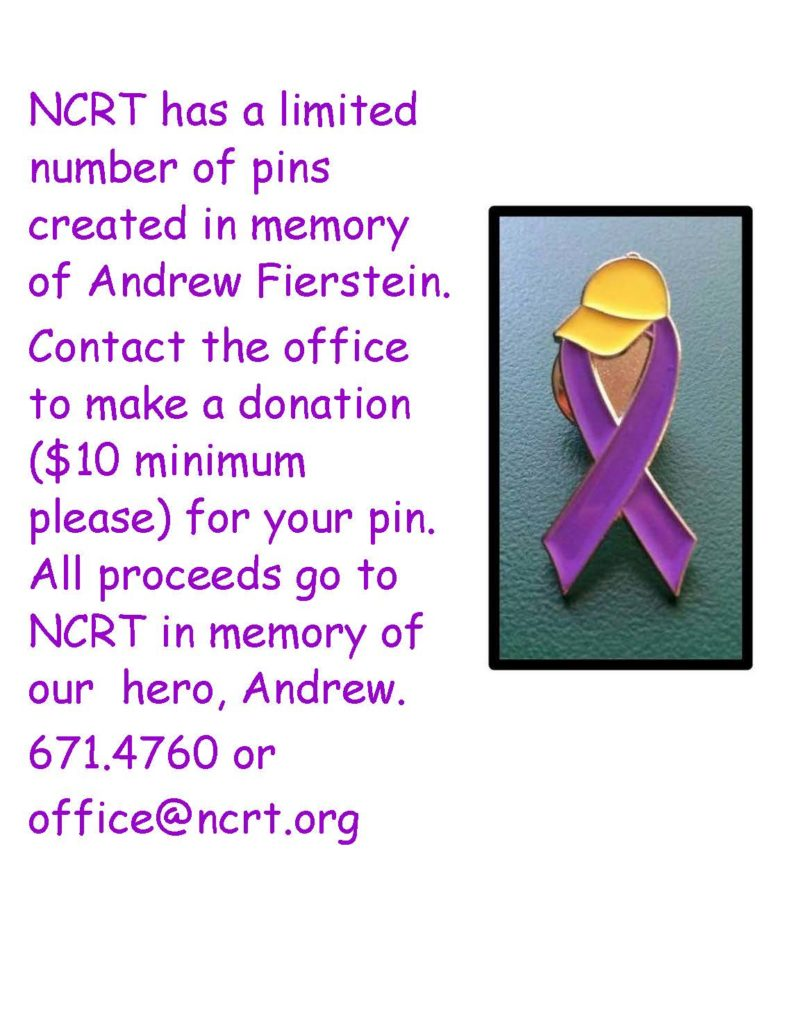 LIMITED SPECIAL DESIGNED PINS IN MEMORY OF ANDREW FIERSTEIN AVAILABLE
