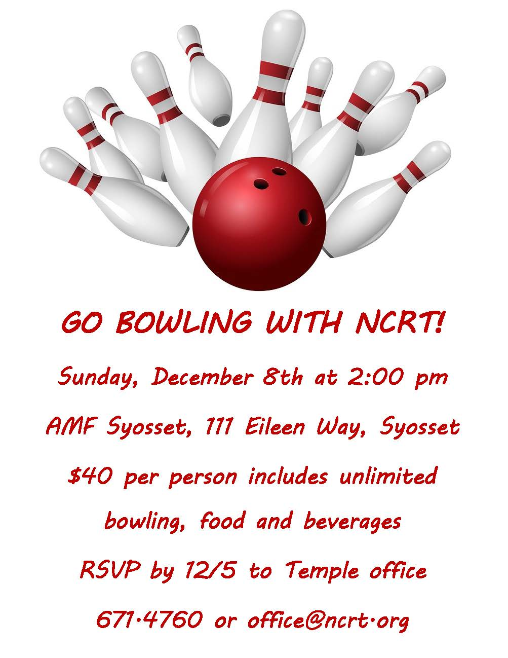 Go Bowling with NCRT!