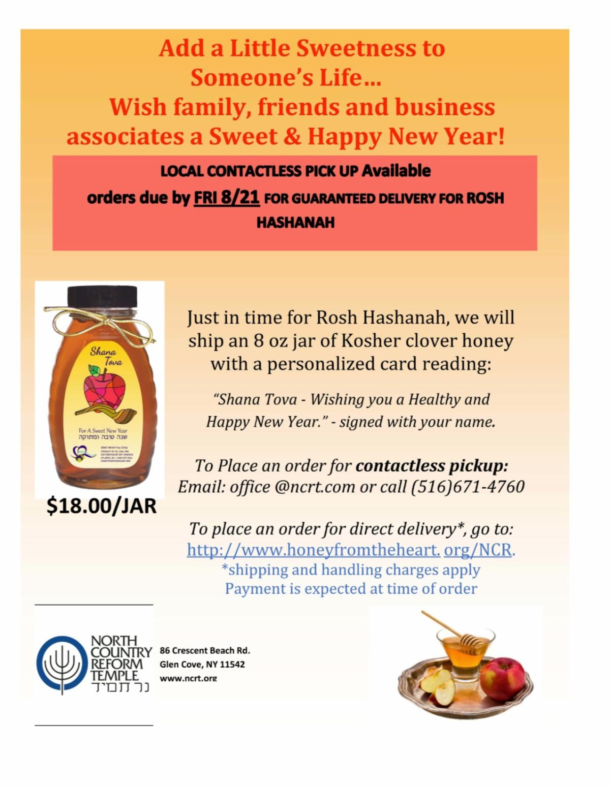 Order Honey For A Sweet New Year!